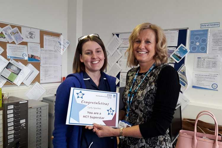Carly Sparkes is a Community Nurse in HCT's Watford Community and Nursing Therapies' Team