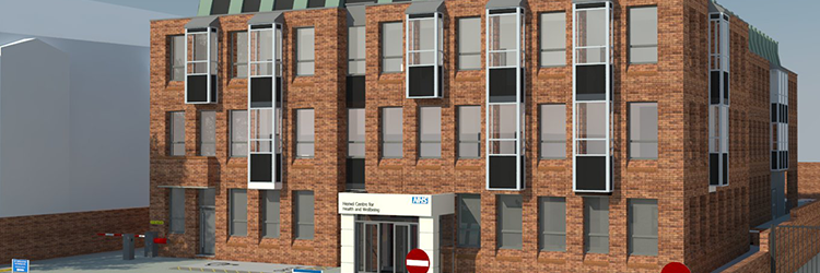 Artists impression of the refurbished Health and Wellbeing Centre