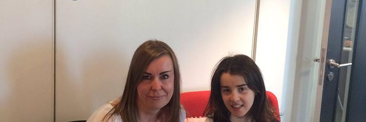 HPFT Advanced Eating Disorders Practitioner, Penny Smith and Lucy Priest, 18, at Radio 4's Woman's Hour