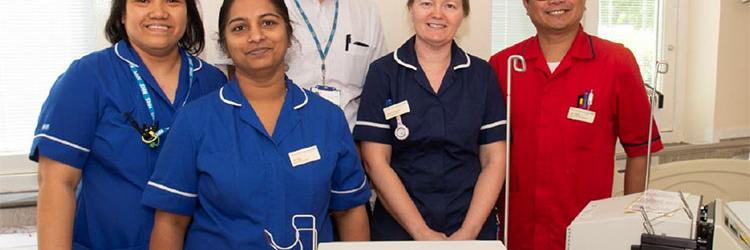 East and North Hertfordshire NHS Trust's renal telemedicine team